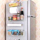 Multi-layer Fridge Storage Rack Side Shelf Sidewall Holder Multi-function Kitchen Organizer Household, Size: Sun Flower Rack