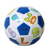 REGAIL No. 2 Intelligence PU Leather Wear-resistant Number Football for Children, with Inflator