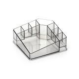 Desktop Makeup Box Transparent Lipstick Multi-function Desktop Cosmetics Shelf Storage Box (Black)