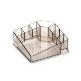 Desktop Makeup Box Transparent Lipstick Multi-function Desktop Cosmetics Shelf Storage Box (Coffee)