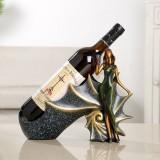 Blonde Shape Creative Red Wine Shelf Drain Rack Bottle Holder Ornament Resin Home Decoration (Green)