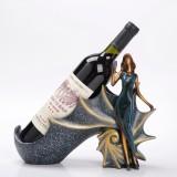 Blonde Shape Creative Red Wine Shelf Drain Rack Bottle Holder Ornament Resin Home Decoration (Blue)