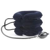 Household Full Cashmere Cervical Traction Instrument Neck Protection Inflatable Cervical Spine Massage Instrument (Black)
