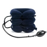 Household Full Cashmere Cervical Traction Instrument Neck Protection Inflatable Cervical Spine Massage Instrument (Blue)