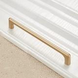 2 PCS 9011-160 Modern Simple Cabinet Door Handle Drawer Wardrobe Zinc Alloy Handle (Gold)