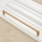 2 PCS 9011-192 Modern Simple Cabinet Door Handle Drawer Wardrobe Zinc Alloy Handle (Gold)