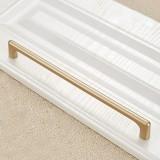 2 PCS 9011-224 Modern Simple Cabinet Door Handle Drawer Wardrobe Zinc Alloy Handle (Gold)