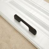 5 PCS 2049-128 Drawer Cabinet Door Aluminum Alloy Handle Straight Door Handle (Black)