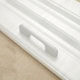 5 PCS 2049-128 Drawer Cabinet Door Aluminum Alloy Handle Straight Door Handle (White)