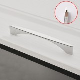 2 PCS 6585-128 American Style Cabinet Door Drawer Handle (Silver)
