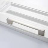 3 PCS 6613-192 Simple Cabinet Door Handle Drawer Wardrobe Zinc Alloy Handle (Brushed)