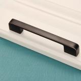 2 PCS 6613-224 Simple Cabinet Door Handle Drawer Wardrobe Zinc Alloy Handle (Black Red)