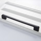 3 PCS 6613-224 Simple Cabinet Door Handle Drawer Wardrobe Zinc Alloy Handle (Black)