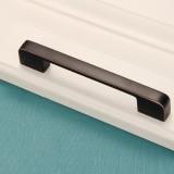 2 PCS 6613-320 Simple Cabinet Door Handle Drawer Wardrobe Zinc Alloy Handle (Black Red)
