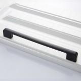 2 PCS 6613-320 Simple Cabinet Door Handle Drawer Wardrobe Zinc Alloy Handle (Black)