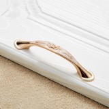 5 PCS 6026A-96 European Style Zinc Alloy Cabinet Wardrobe Drawer Door Handle, Hole Spacing: 96mm (White Amber)