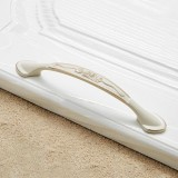 5 PCS 6026A-128 European Style Zinc Alloy Cabinet Wardrobe Drawer Door Handle, Hole Spacing: 128mm (Ivory)