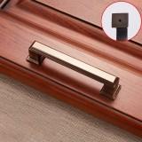 3 PCS 6609-96 Zinc Alloy Cabinet Wardrobe Drawer Door Handle, Hole Spacing: 96mm (Coffee Bronze)