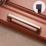 2 PCS 6609-128 Zinc Alloy Cabinet Wardrobe Drawer Door Handle, Hole Spacing: 128mm (Coffee Bronze)