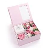 Creative Valentine Day Gift Soap Flower Rose Gift Box Souvenir (Pink)