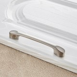 3 PCS 6225-128 Zinc Alloy Stainless Steel Nickel Wire Drawing Cabinet Wardrobe Drawer Door Handle, Hole Spacing: 128mm