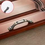 5 PCS 6201-96 Sub Cyan Zinc Alloy Cabinet Wardrobe Drawer Door Handle, Hole Spacing: 96mm
