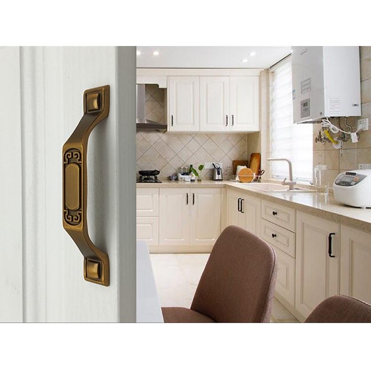 5 PCS 6201-128 Sub Cyan Zinc Alloy Cabinet Wardrobe Drawer Door Handle, Hole Spacing: 128mm