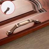 5 PCS 6201-128 Coffee Zinc Alloy Cabinet Wardrobe Drawer Door Handle, Hole Spacing: 128mm
