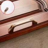 3 PCS 6202-96 Coffee Zinc Alloy Cabinet Wardrobe Drawer Door Handle, Hole Spacing: 96mm