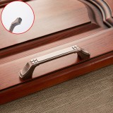 5 PCS 6202-96 Sub Red Zinc Alloy Cabinet Wardrobe Drawer Door Handle, Hole Spacing: 96mm