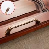 3 PCS 6202-128 Coffee Zinc Alloy Cabinet Wardrobe Drawer Door Handle, Hole Spacing: 128mm