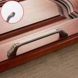 3 PCS 6202-128 Sub Red Zinc Alloy Cabinet Wardrobe Drawer Door Handle, Hole Spacing: 128mm