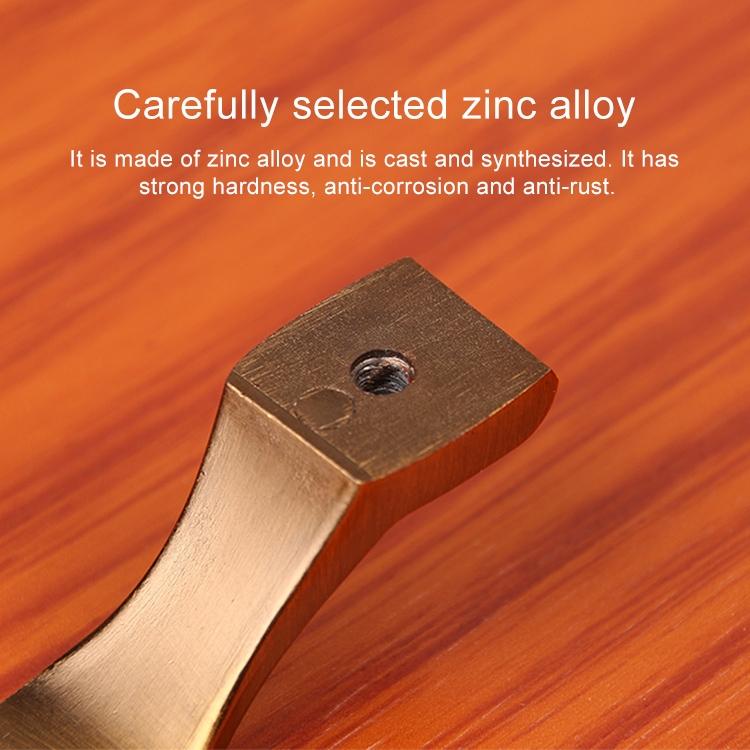 3 PCS 6202-128 Sub Red Zinc Alloy Cabinet Wardrobe Drawer Door Handle, Hole Spacing: 128mm