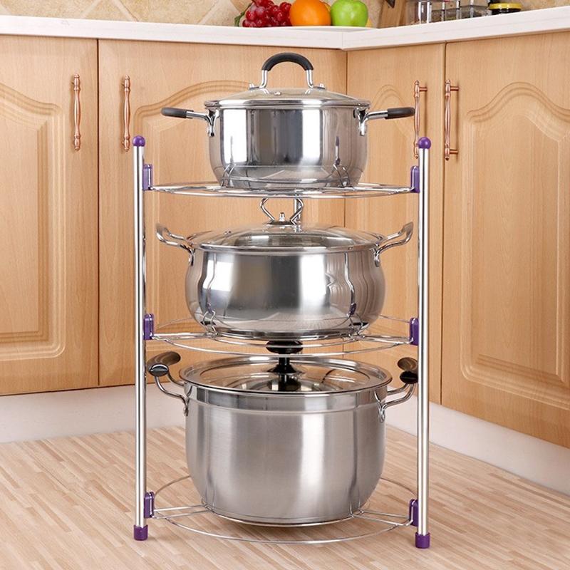 Multi-function Kitchen Pot Rack Three-layer Wok Soup Pot ...