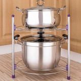 Multi-function Kitchen Pot Rack Double-layer Wok Soup Pot Stainless Steel Pot Rack