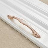 3 PCS 6566-128 White Amber Drawer Cabinet Door European Style Palace Gemstone Handle