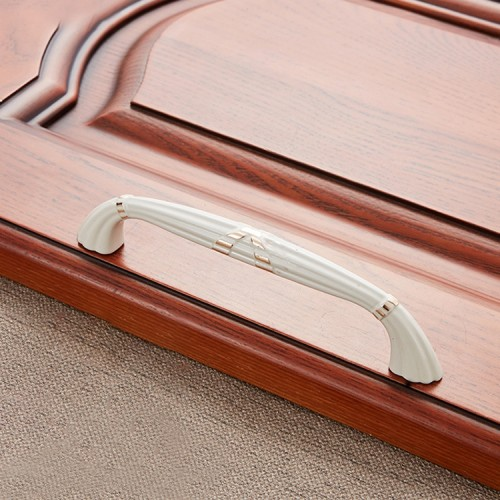 3 PCS 6046-128 Drawer Cabinet Door European Style Classical Bronze Handle (White)
