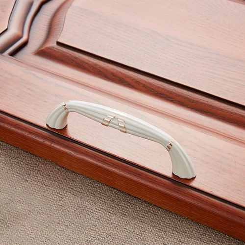 5 PCS 6046-96 Ivory White Drawer Cabinet Door European Style Classical Bronze Handle