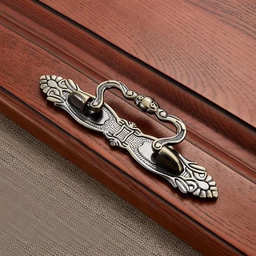 3 PCS 6054-96 Cyan Ancient Drawer Cabinet Door Bronze European Style Handle