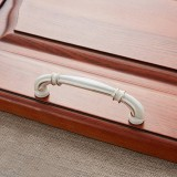 3 PCS 6569-96 Lvory White Peach Wood Drawer Cabinet Door Handle