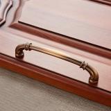 3 PCS 6569-128 Coffee Peach Wood Drawer Cabinet Door Handle