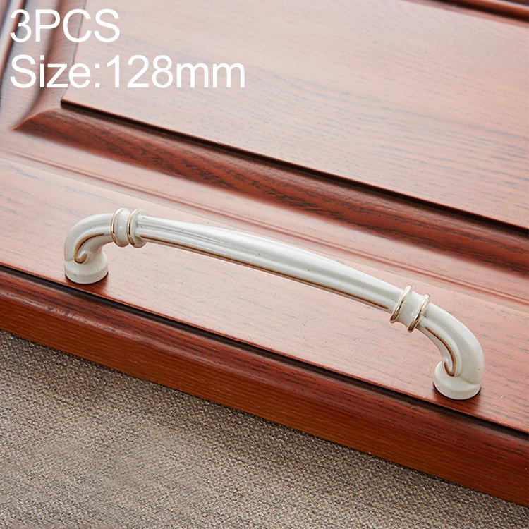 3 PCS 6569-128 Lvory White Peach Wood Drawer Cabinet Door Handle