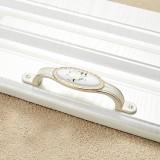5 PCS 5008-96 Ivory White White Peony Cabinet Drawer Zinc Alloy Ivory White Jade Handle