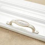 5 PCS 5008-96 Ivory White Classical Gold Cabinet Drawer Zinc Alloy Ivory White Jade Handle