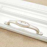 3 PCS 5008-128 Ivory White White Peony Cabinet Drawer Zinc Alloy Ivory White Jade Handle