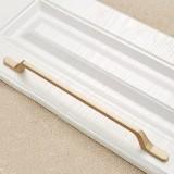 2 PCS 9008-224 Modern Simple Cabinet Door Handle Drawer Wardrobe Zinc Alloy Handle (Gold)