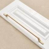 9008-320 Modern Simple Cabinet Door Handle Drawer Wardrobe Zinc Alloy Handle (Gold)