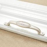 3 PCS 5008-128 Ivory White Classical Gold Cabinet Drawer Zinc Alloy Ivory White Jade Handle
