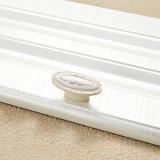 5 PCS 5008-single Ivory White Classical Gold Cabinet Drawer Zinc Alloy Ivory White Jade Handle