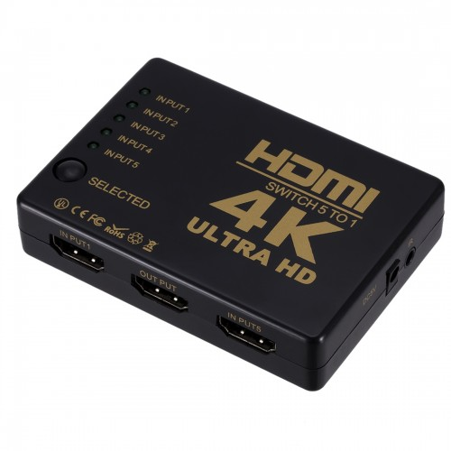 ZMT-968885 HDMI Switch 5 into 1 out 4K*2K HD Video Switch with Remote Control